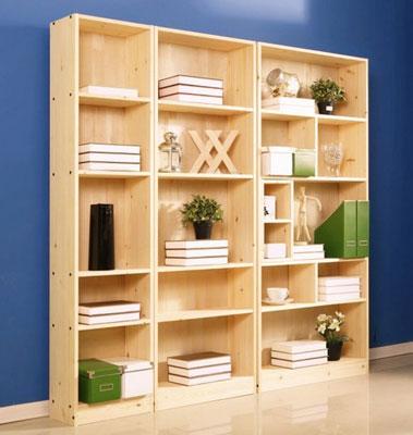 2013新款实木书柜储物架可定制书架