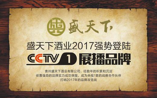 热烈祝贺2017盛天下酒业斥巨资荣登央视CCTV1频道